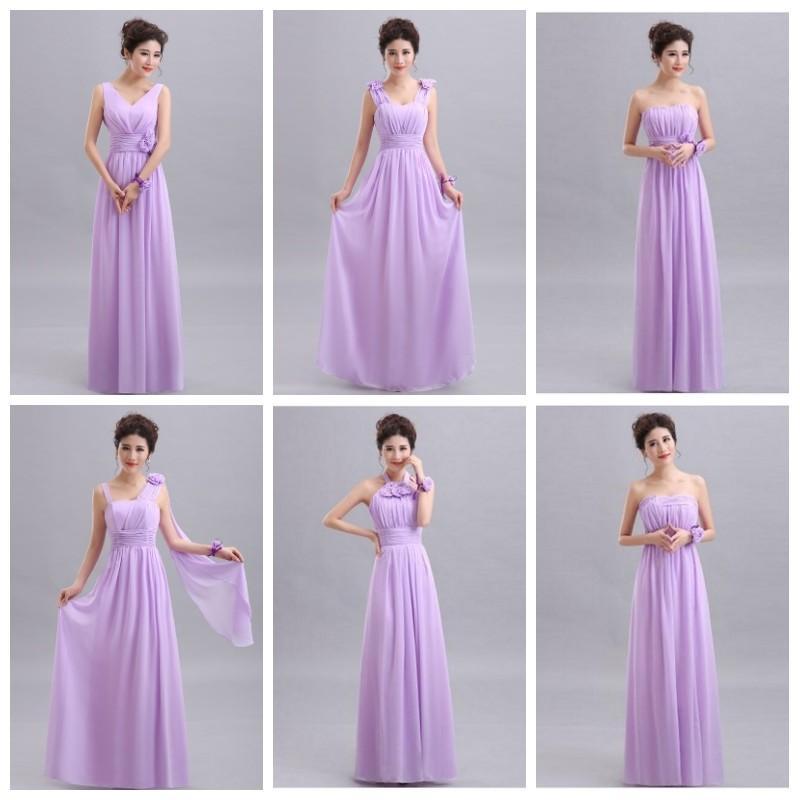 5ec601e8b8 wholesale Purple Long Chiffon Blush Pink Bridesmaid Dresses 2019 A-Line  Vestido De Festa De Casamen Formal Party Prom