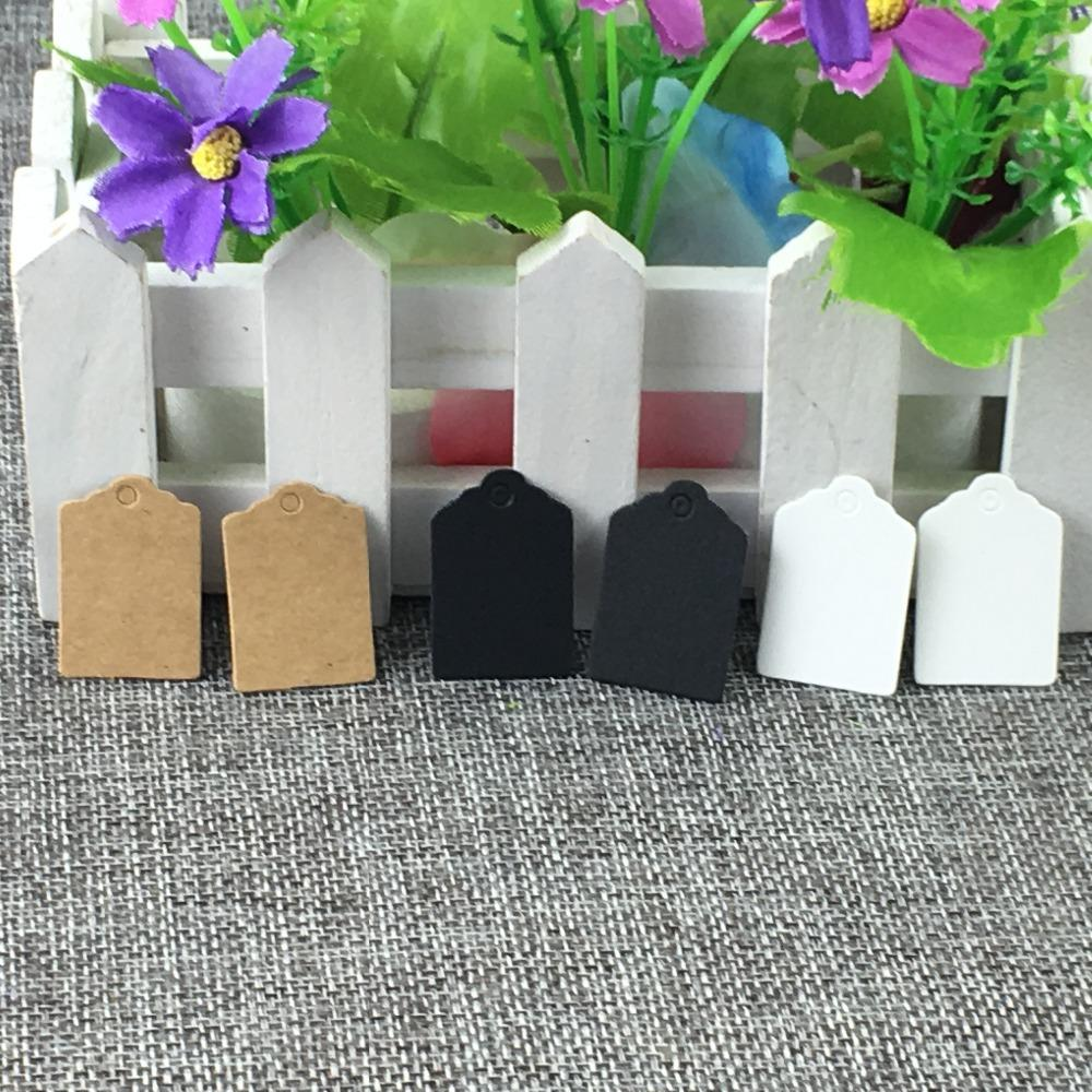 1000pcs 3*2cm white/ black/brown tags small products hang tags paper clothing tag / Price Label /bottle/wine/flower/diy tag