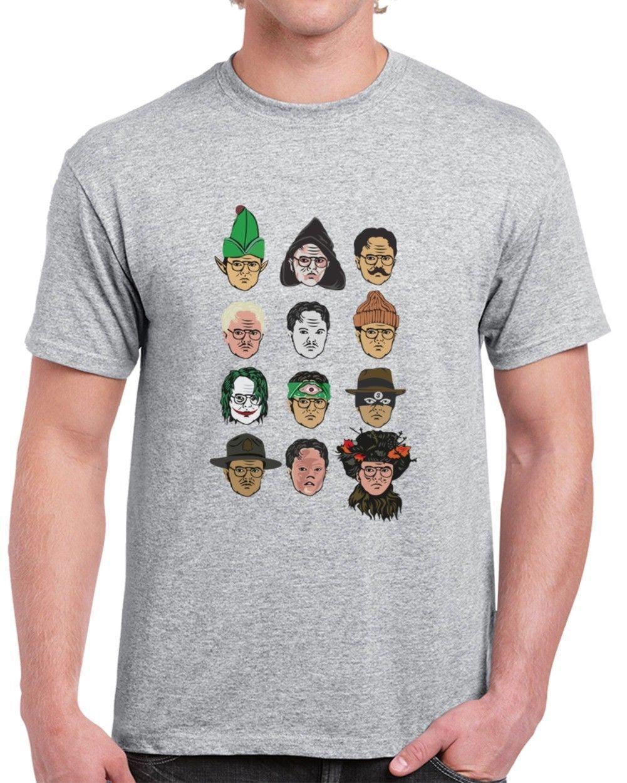 2004e75cc Compre Muitas Caras De Dwight Schrute O Escritório Unisex Camiseta De  Kindness068