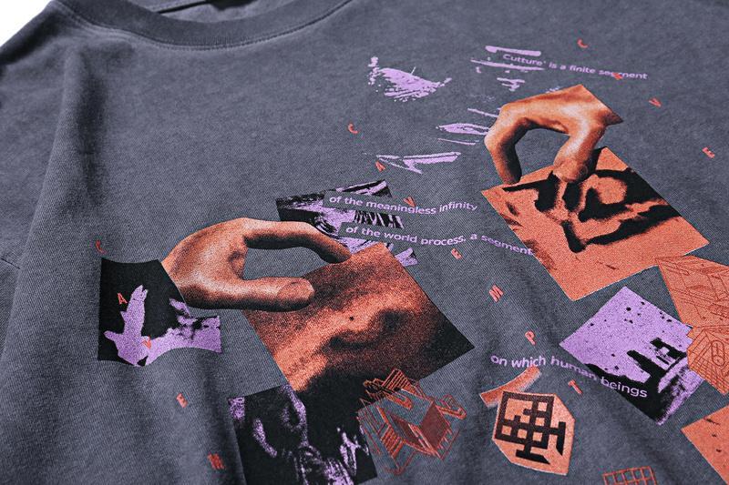 2019 CAVEMPT Distressed Fragment Gedruckt Frauen Männer Dicke Baumwolle T shirts T-shirts Hiphop Streetwear Männer t-shirt