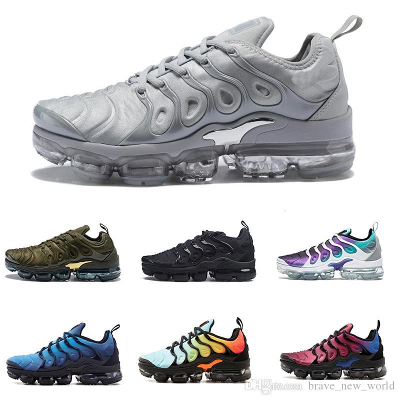 Best Quality TN Plus Running Shoes Men Women Wool Grey Triple White Tropical Sunset Cheap TN Men Designer Shoes Sport Sneakers