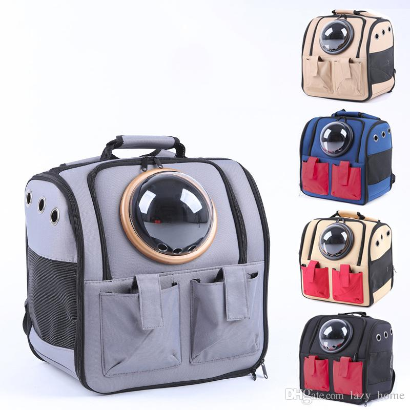 46b1934aba 2019 Portable Pet Carrier Space Capsule Backpack Cat Dog Bubble Carrier  Travel Bag Outdoor Backpack Waterproof Breathable New From Lazy_home, ...