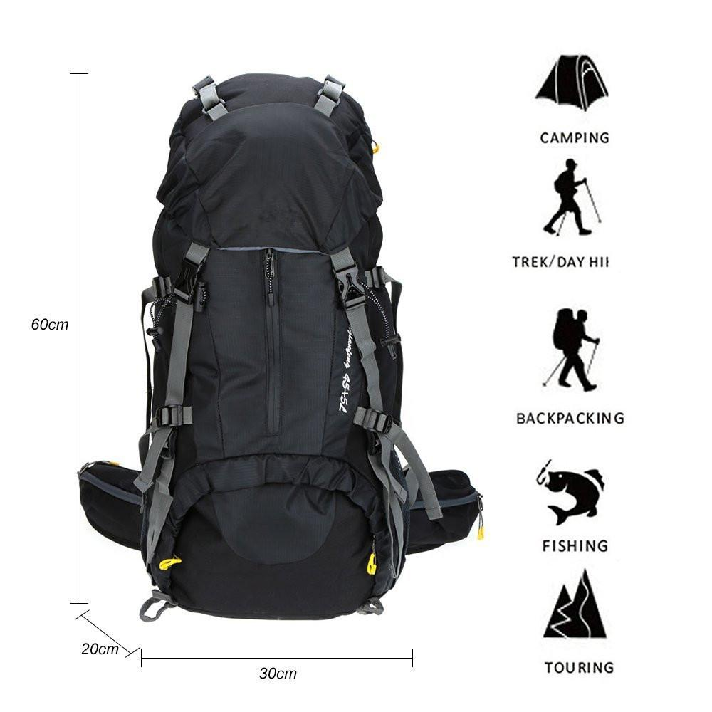 70L waterproof mountaineering hiking backpack rain cover bag 50L camping hiking backpack sports outdoor bicycle bag