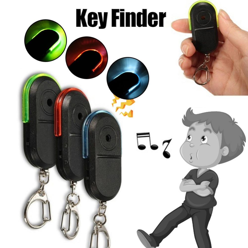 Portable Wireless Anti-Lost Alarm Key Finder Locator Keychain Whistle Sound LED Light Mini Search Anti Lost Key Finder Styling GPS