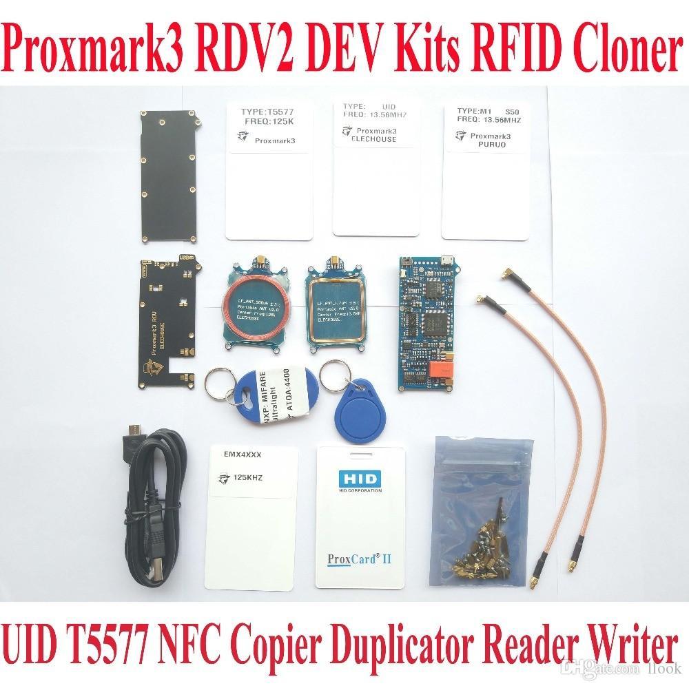 Proxmark3 RDV2 ELECHOUSE DEV Kits RFID Cloner Duplicator Reader Writer UID  T5577 NFC Copier Proxmark 3 Clone Crack