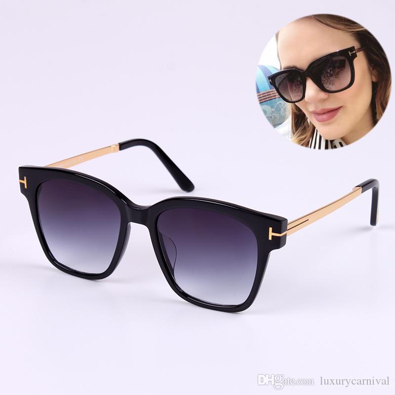 e278ca6ac3240 Compre Atacado New Luxo Óculos De Sol Tf642 K Tom Logotipo Polarizada Óculos  De Sol De Alta Qualidade Para Homens Mulheres Óculos De Marca Designer De  ...