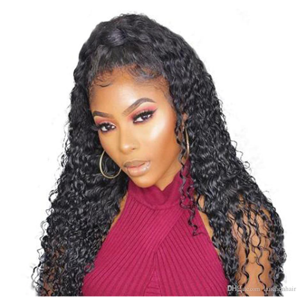 Human Hair Lace Wig Wet and Wavy Deep Wave Human Hair lace Frontal Wigs for Black Women with Pre Plucked Baby Hair