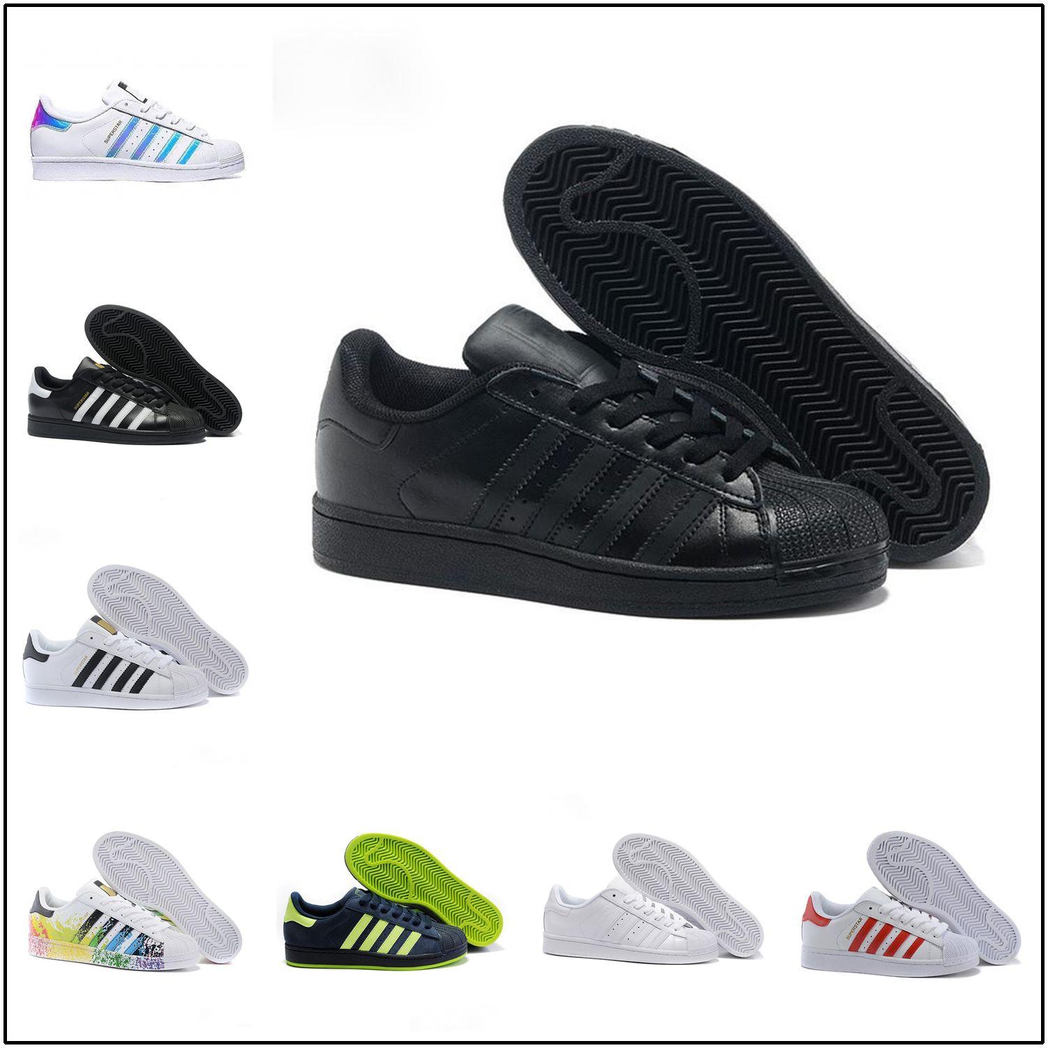 newest b0cb6 6774c 2018 Stan smith Superstar Original White Hologram Iridescent Junior Gold  Superstars Sneakers Originals Women Men Sport Running Shoes