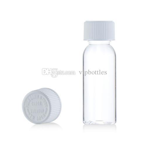 abcb76c6088c eliquid 30ml clear bottle white childproof flat twist cap 30ml pet dropper  bottles transparent & black cap