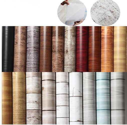 1M / 5M / 10M Adesivi murali in legno cucina adesivi per la carta da parati  Ristrutturato guardaroba vestiti armadio porta scrivania mobili per la ...