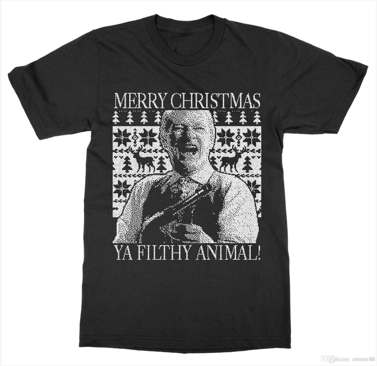 d0a282b4 Ya Filthy Animal 'Home Alone' T Shirt Holiday Movie Christmas Xmas Santa  Gift Crazy T Shirts Designs Ridiculous T Shirt From Artmuz88, $10.76|  DHgate.Com