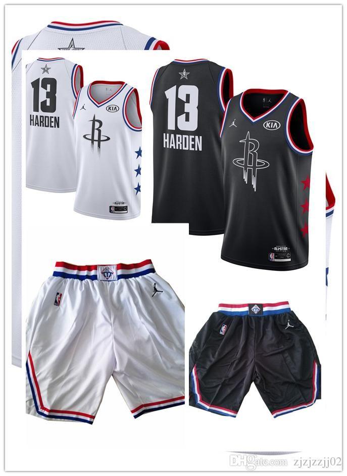 uk availability df8b1 87ca3 All 2019 star Hardens 13 James Rockets Jersey The City Houston Hardens 13  James Brand Basketball Jersey NEW short