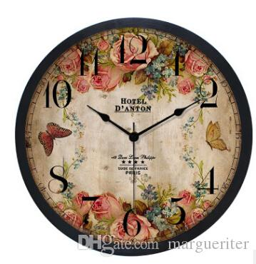Europe Style Vintage Wall Clock Fashion 10 Inch Silent Wall Clocks