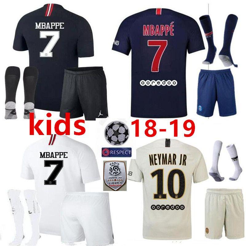 pretty nice ebb70 62a51 Thailand Maillot de foot MBAPPE NEYMARs JR soccer jerseys 18 19 Kids jersey  17 18 football shirt KIT paris saint germain survetement psg
