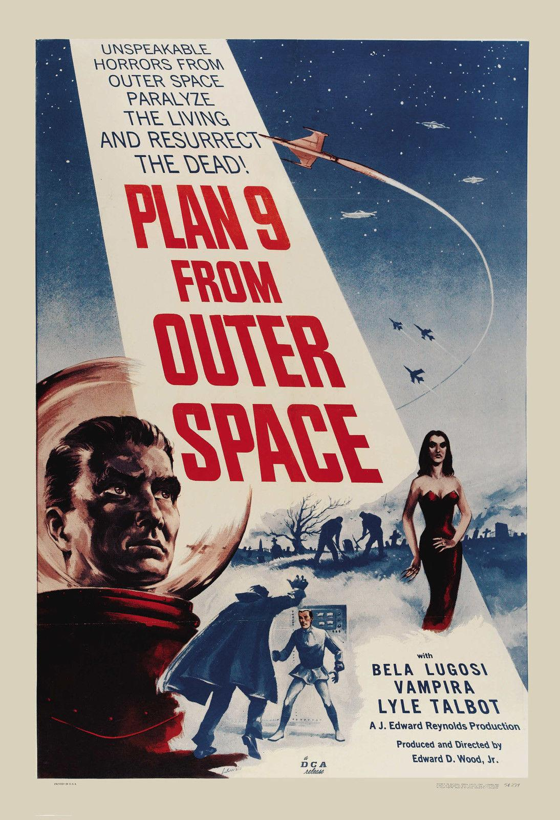 1950 s Sci-Fi * Plan 9 From Outer Space * Bela Lugosi Last Movie Art Silk  Print Poster 24x36inch(60x90cm) 019