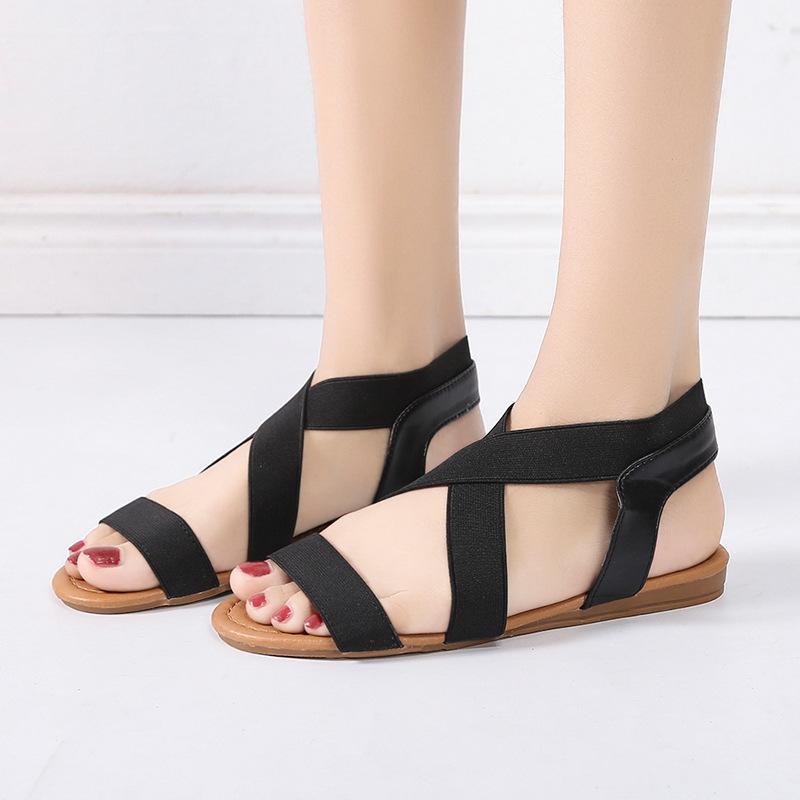 b30f68614 Compre Sandalias De Gladiador Para Mujer 2019 Moda De Primavera Zapatos De Mujer  Sandalias Romanas Zapatos Atados En Cruz Retro Beach Flat A  41.09 Del ...