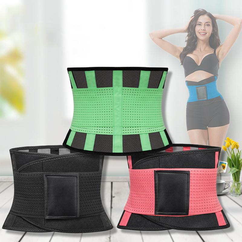 869cc9544c124 2019 Fitness Belt Waist Trainer Thermo Body Hot Shaper Trimmer Corset Waist  Belt Cincher Wrap Workout Shapewear Slimming Xtreme Power From Shuokai1993
