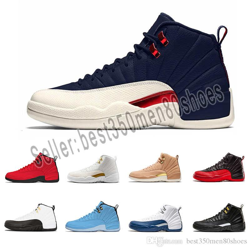 db1790de0f2e7e 2019 High Quality 12 12s OVO White Gym Red WNTR The Master Basketball Shoes  Men Taxi Flu Game French Blue CNY Sneakers With Box From Best350men80shoes