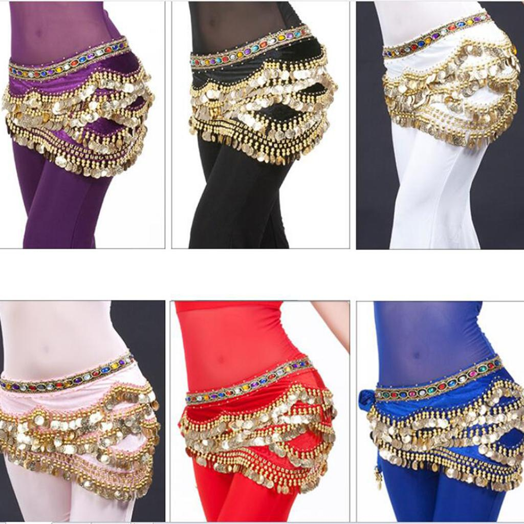 870b96360 2019 Velvet Dangling Gold Coins Belly Dancing Hip Skirt Scarf Wrap Belt  From Redbud06, $28.86 | DHgate.Com