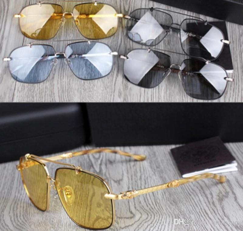 9611f932a30 New Chrome Fashion Men Polarized Sunglasses For Men Night Vision Goggles  Luxury Brand Oversized Sunglasses Anti Glare Night HD Glasses Mens  Eyeglasses Sport ...