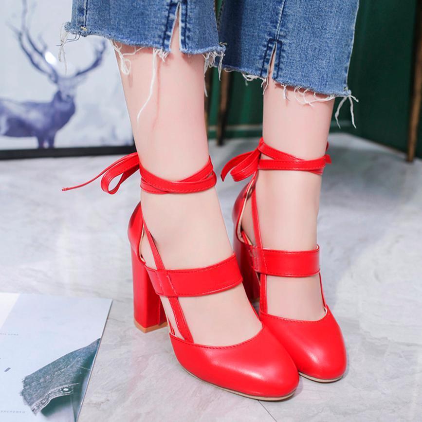 Compre 2019 Vestido Mokingtop Zapatos De Mujer Moda Moda Mujer Sandalias De  Tacón Correa Del Tobillo Vestido Sandalias Para La Boda Del Partido Zapatos  De ... fea17b197e697