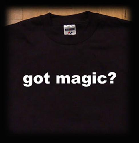 Got magic t shirt magician tricks illusion Men Women Unisex Fashion tshirt Free Shipping black