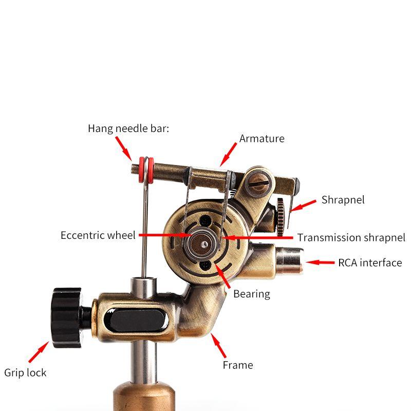 Dreh-Tattoo Maschine mit RCA-Schnittstelle Aluminiumlegierung Motor Maschine für Shader und Liner-Körper-Kunst-Verfassungs-Werkzeug