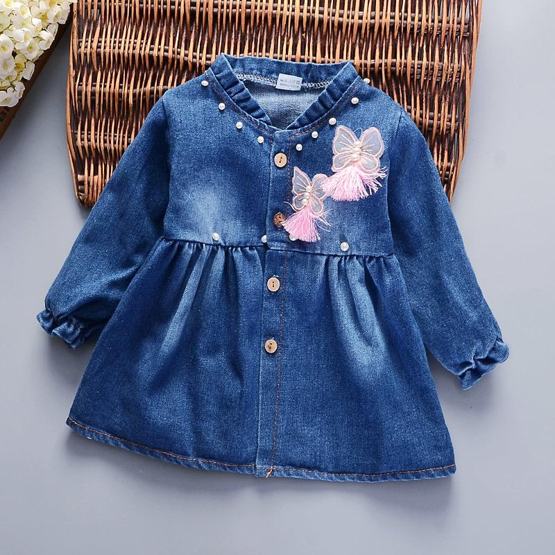 c0ac58274b 2019 Good Quality Infant Girls 2019 New Denim Dress Newborn Girls Spring  Autumn Princess Style Frocks Baby Girls Cute Party Dress Clothes From  Victorys08