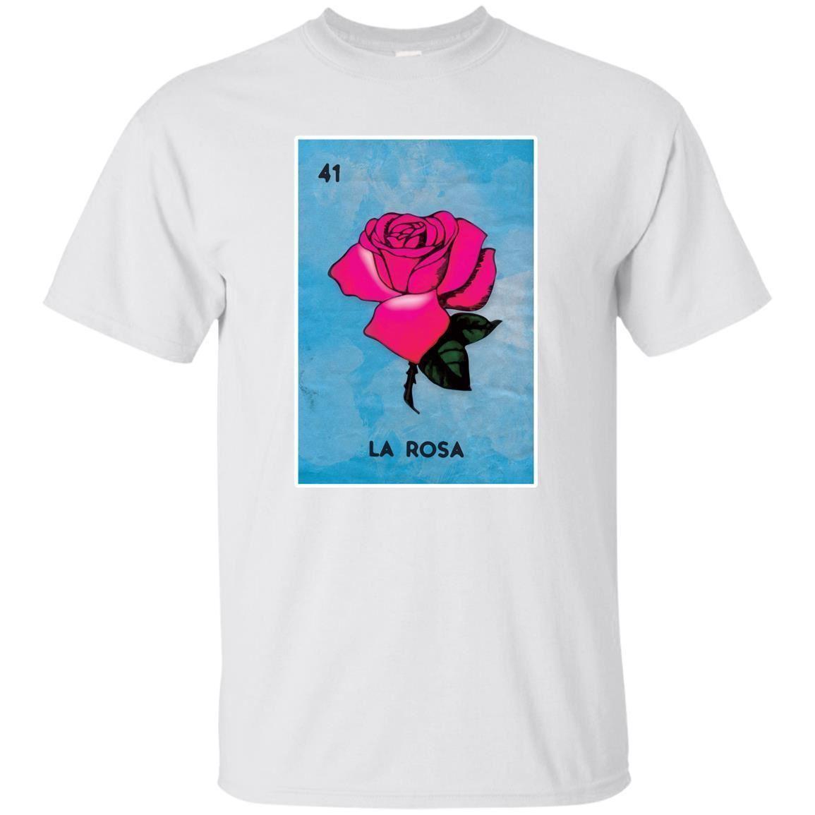 ac918ba0ab Mexican Loteria Tshirts - La Rosa Black Navy T Shirt Grunge Version Full  Size Round Style top free shipping tshirt