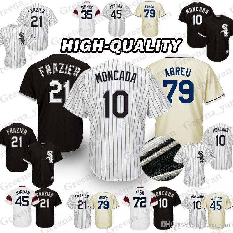 d3f424dbd 2019 TOP Chicago White Sox Baseball Jersey 10 Yoan Moncada 8 Bo Jackson 79  Jose Abreu 35 Frank Thomas 21 Todd Frazier 45 Michael Jerseys Adult From ...