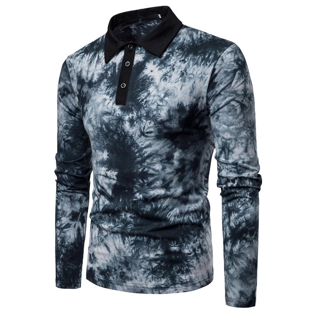 040e02d510 Compre ISHOWTIENDA Camisas De Primavera Para Hombre Casual Camisas Slim Fit  Camisa Con Botones De Manga Larga Top Camiseta Hombre Ropa De Mujer Camisa  A ...