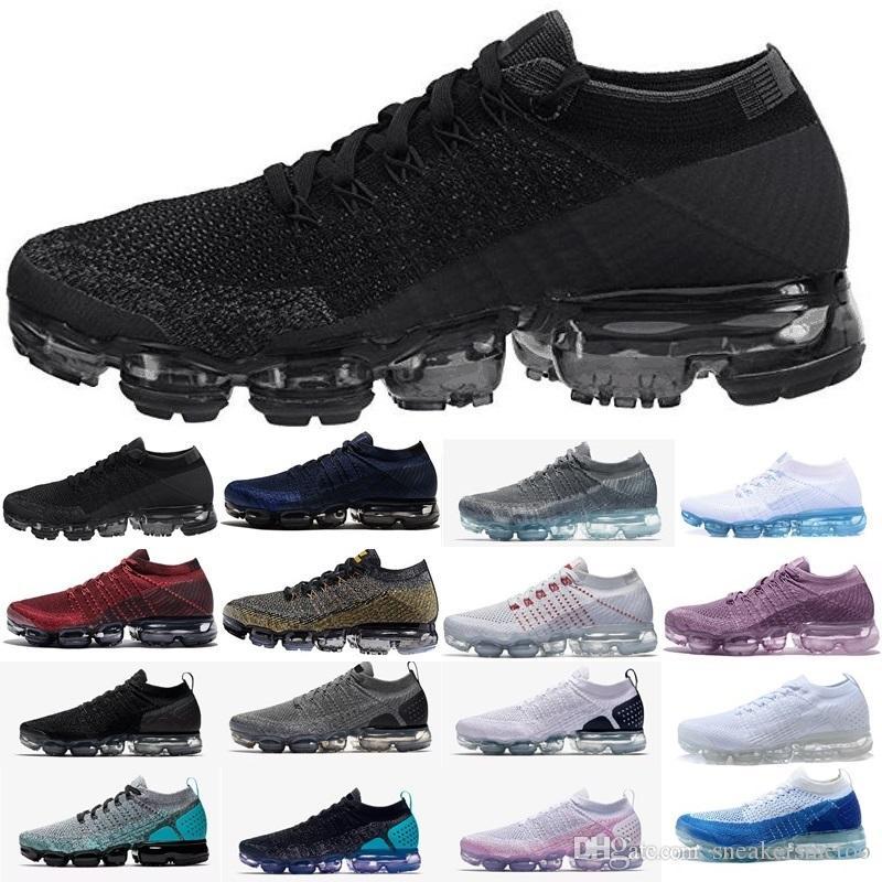 Acheter Nike Air Max Airmax Vapormax Flyknit Shoes Pas Cher 1.0 2.0 Plyknit  Chaussures De Course Hommes Vert Entraîneurs De Tennis 2019 Chaussure Homme  ... b2071efe5649