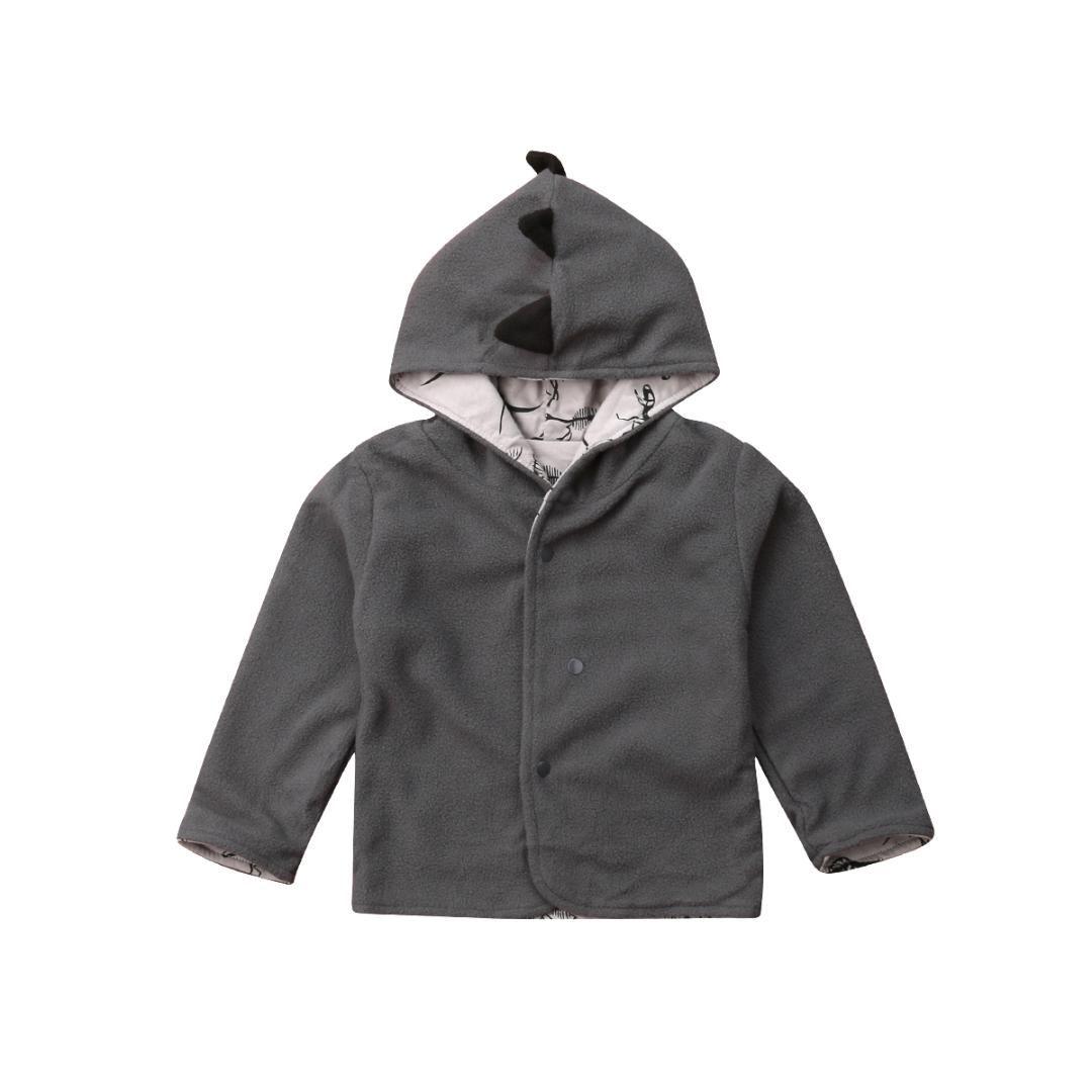 2826d6e9ff1d Autumn Toddler Kids Baby Girl Boy Clothes Fleece Tops Coats Cute ...