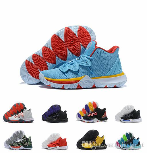 Designer 5 PE Little Mountain Concepts CNY Ikhet Neon Blends Taco Chaussures de basket ball Mens Trainers Sneakers Zapatillas Kyrie 40-46
