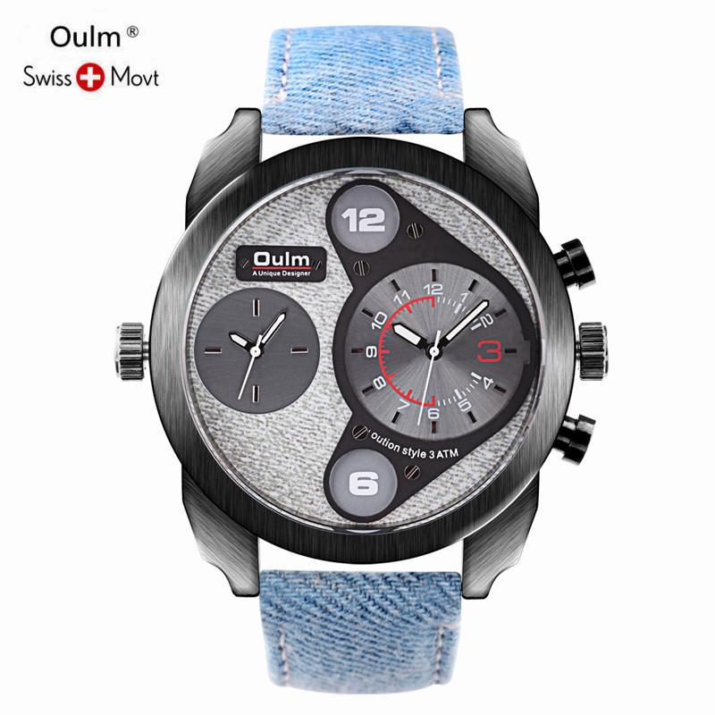 Compre Oulm Relojes Marca De Lujo Superior Reloj De Cuarzo Hombres Casual  Reloj De Cuarzo Acero Inoxidable Reloj Ultra Delgado Hombre Nuevo Relogio  ... fb3aa759ef99