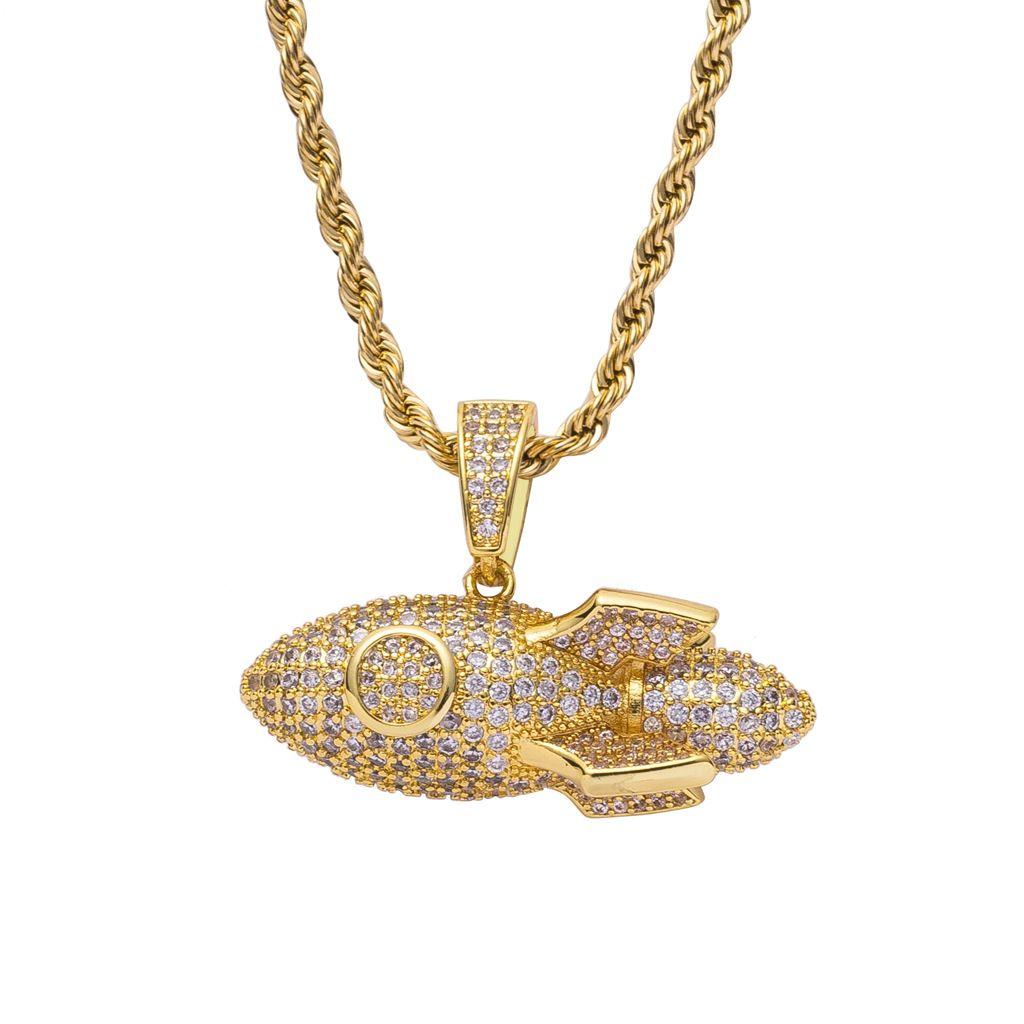 Dragon Ball Z Broly Hip Hop Iced out Bijoux Chaîne Zircon Cubique Collier S 925