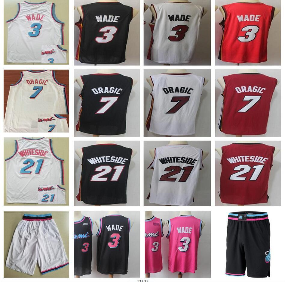 da134b774b2 ... closeout earned edition 3 dwyane wade jerseys 2019 new city edition  black 21 hassan whiteside white
