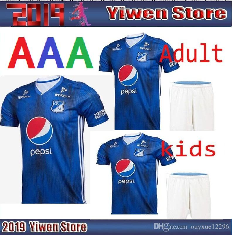 00af78046 Adult And Kids 2019 2020 Millonarios Futbol Club Colombia Soccer Jerseys  Football Shirt 19 20 Colombia Millonarios Home Men Soccer Jerseys UK 2019  From ...