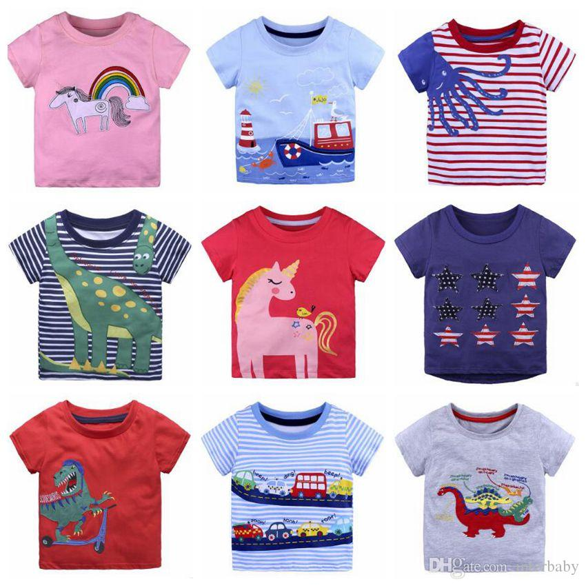 705026b26 Compre Unicornio Ropa Para Bebés Niños Camiseta De Verano Para Niñas Camisas  De Manga Corta Tops De Moda Imprimir Camisetas Casuales Estampado De  Animales ...