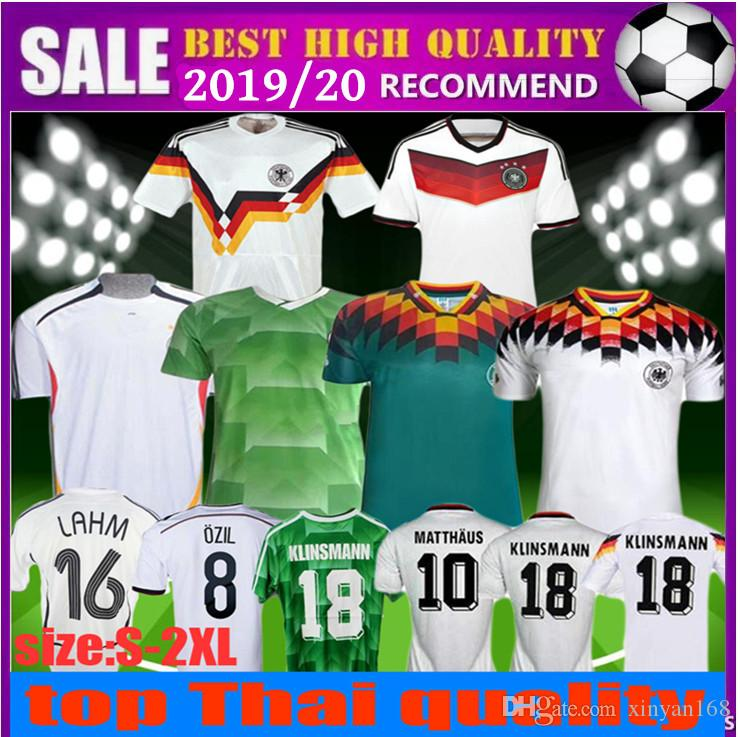 d884c33af 2019 1990 1994 1988 2006 2014 Germany Retro Version VINTAGE CLASSIC Soccer  Jersey KLINSMANN Matthias Home Away KALKBRENNER Football Uniform Shirt From  ...