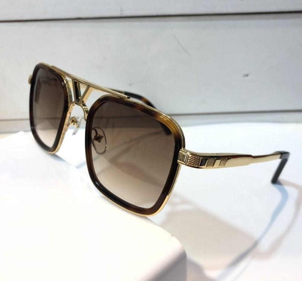 a08b2819cbae9 Men Brand Designer 0947 Sunglasses Luxury Popular Retro Vintage 0947u Sunglasses  Shiny Gold Summer Style Laser Logo Gold Plated With Case Cheap Prescription  ...