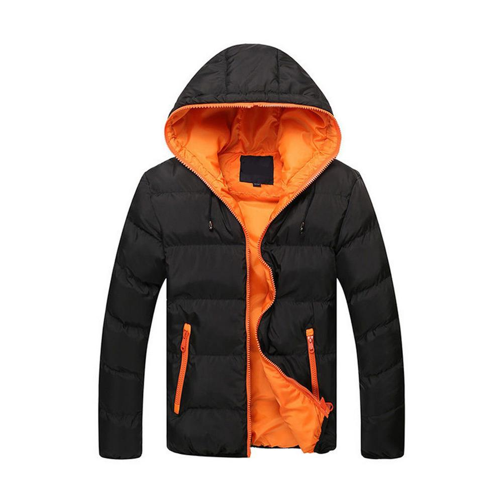 f4e5cc1c0 Winter Men's Jacket Warm Coat Jacket Parkas Jackets Zipper Hooded Stand  Collar