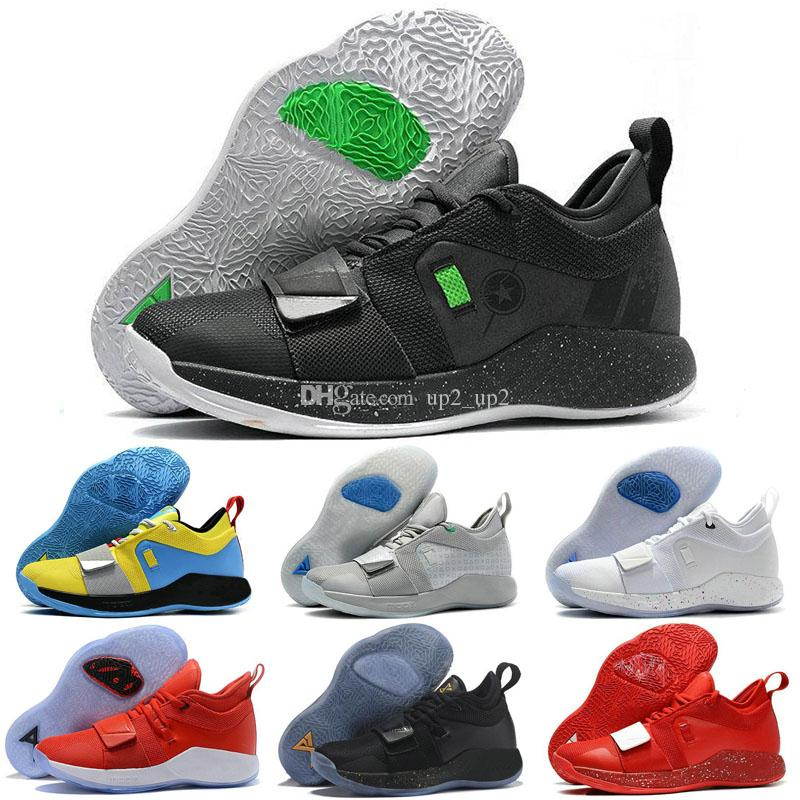 cheap for discount bb89c c6d84 Men Outdoor Shoes Paul George Pg 2.5 Sneakers Gold Fortnite Wolverine Space  Jam Moon Exploration Oklahoma PG 2.5 Trainers Shoes
