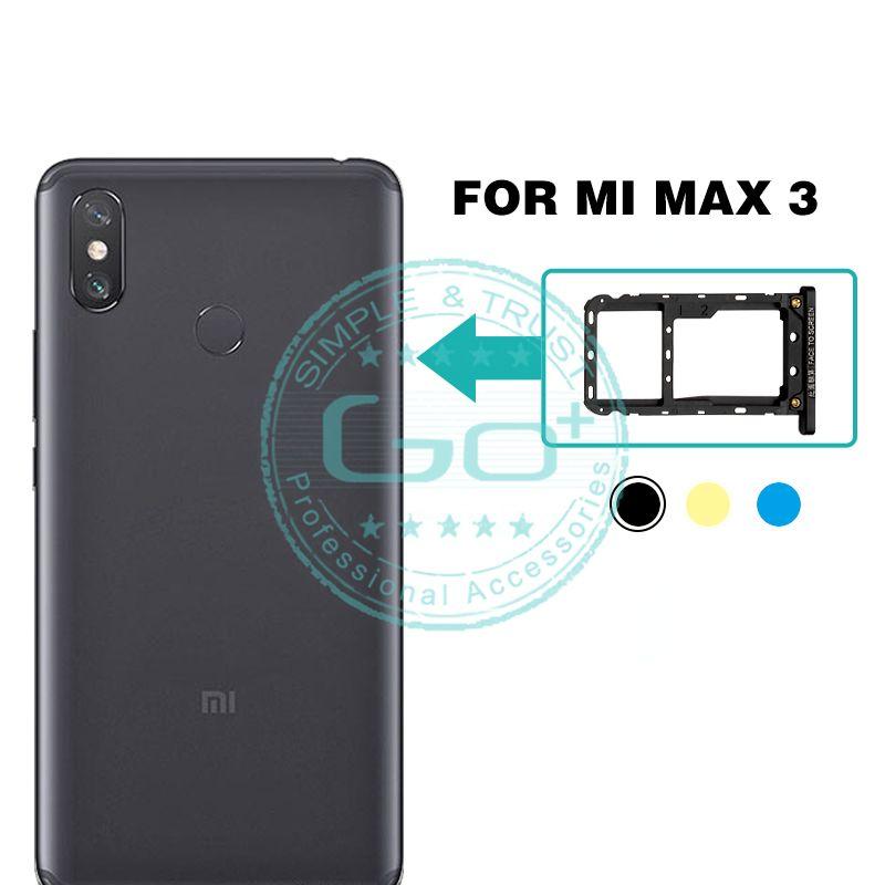 For Xiaomi Mi Max 3 SIM Card Slot Tray Holder Micro SIM/ SD /TF Card Tray  Slot Adapter Mi Max 3 Replacement Repair Spare Parts