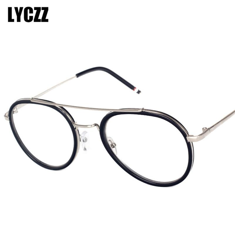 453fdf54ca4c 2019 LYCZZ Big Round Nerd Glasses Frame Clear Lens Unisex Gold Metal Frame  Glasses Optical Men Women Vintage Spectacle Gafas From Marquesechriss