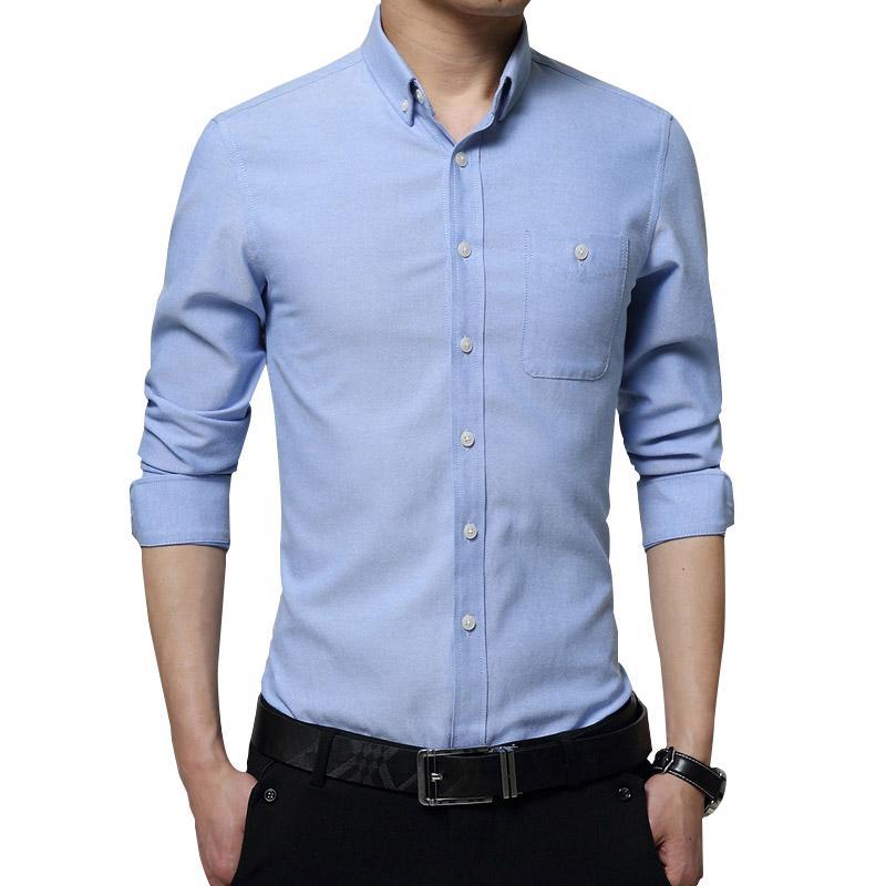 956879d7f78 Online St Business Dress Shirts. 2019 Legible Men Fashion Casual Long  Sleeved ...