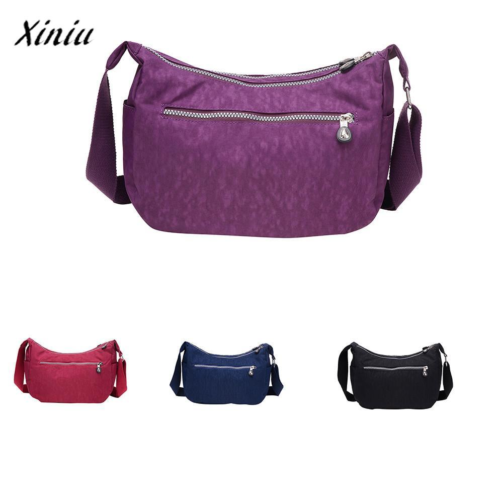 13f2f1b8d433 Xiniu Famous Brand Luxury Handbags Women Bags Designer Fashion Solid Color  Zipper Waterproof Nylon Shoulder Bag Crossbody Bag Shoulder Bags Cheap  Shoulder ...