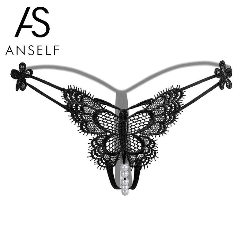 661e5ba30 2019 Sexy Women Sheer Lace Thongs Butterfly Embroidery Beads G String T  Back Crotchless Panties Lingerie Briefs Panties Underpants From Chikui