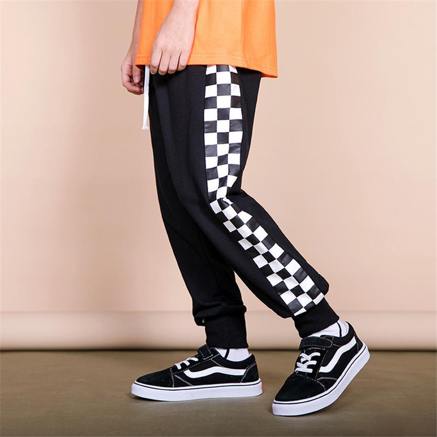 Sportlegging Kids.2019 Boys Pants Size For 6 16years Plaid Sports Pants Leggings Kids