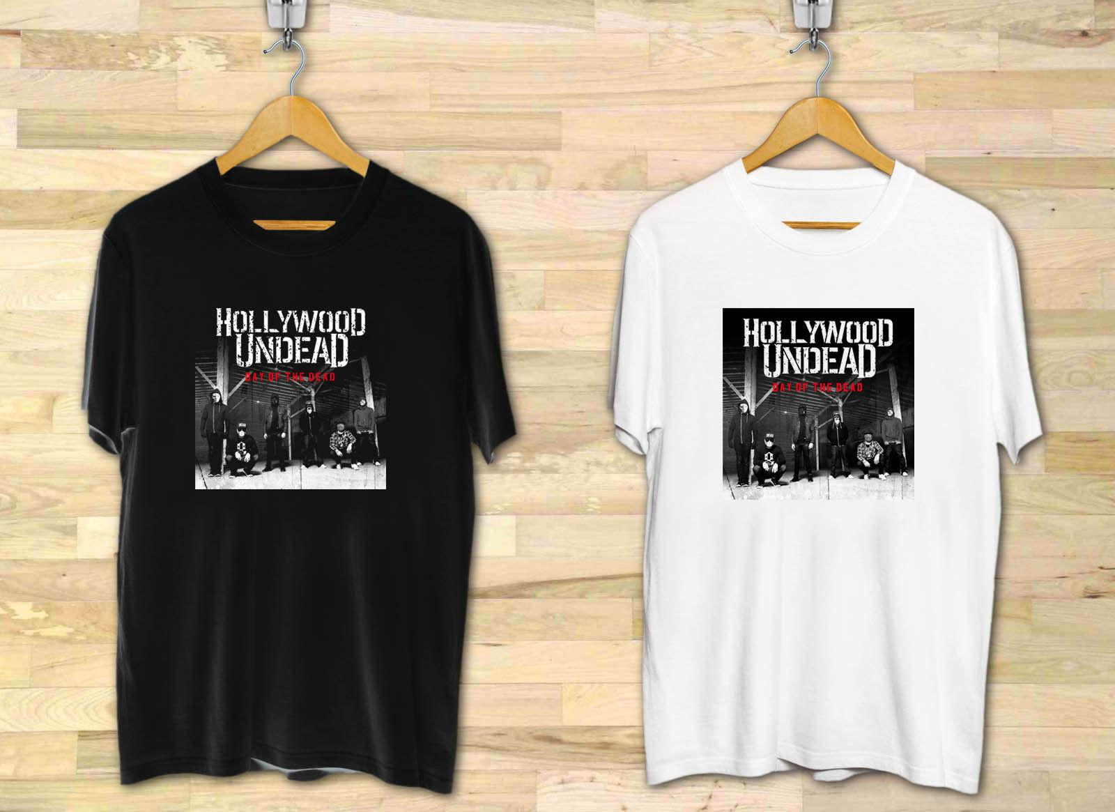 c6cc8fc5f0182 Hollywood Undead HU Day Of The Dead Men S Black White T Shirt XS To 3XL  Funny Unisex Casual Top Offensive Tee Shirts T Shirt A Day From  Shirtquarters